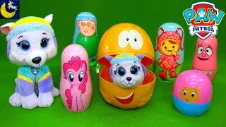Paw Patrol Babies Surprise Nesting Dolls Toys TY Beanie Boos Top Wing Bubble Guppies Toy Video