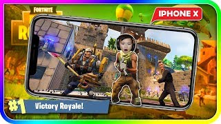 PLAYING Fortnite Battle Royale ON IPHONE X - TigerBox HD