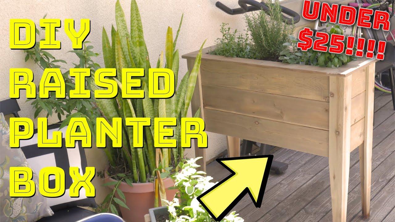 DIY Raised Planter Box Cheap