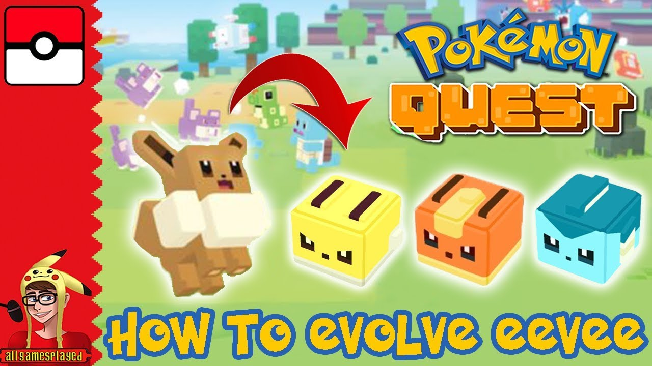How to evolve eevee in pokemon quest also youtube rh