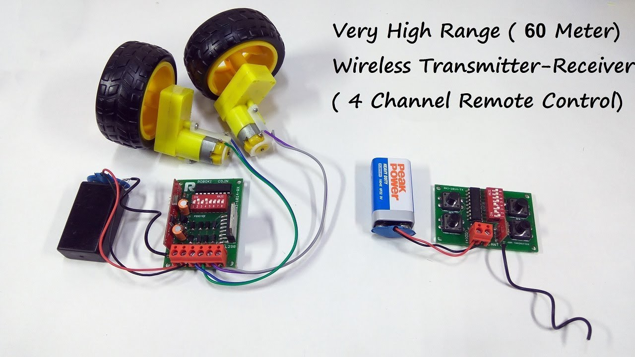 Wireless Remote Control System For RC Car/Boat/Plane