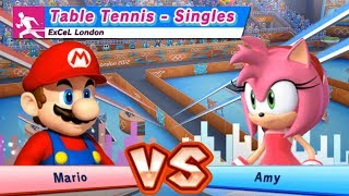 Mario & Sonic At The London 2012 Olympic Games Table Tenis Mario Vs Amy