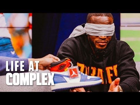 NFL Player Guesses Sneakers For $1000 Charity Donation (Feat. Kareem Jackson) | #LIFEATCOMPLEX