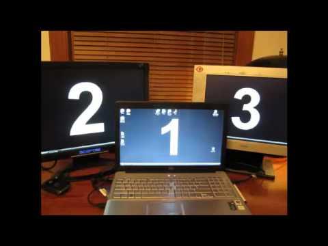 MultiMonitor Display Hookupmp4  YouTube