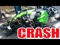 FUNNY MOTORCYCLE CRASH HIGH SIDE KAWASAKI ZX6R