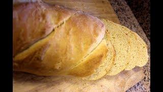 Домашний хлеб в печи на дровах