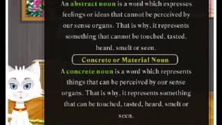 Abstract and material noun