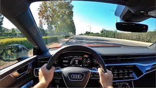 2021 Audi RS7 Sportback (Sports Exhaust) POV Test Drive (3D Audio)(ASMR)