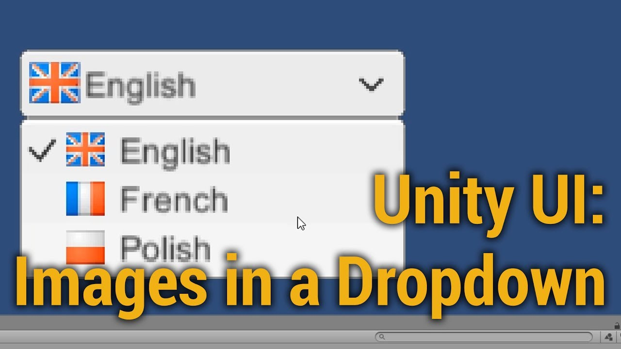 Unity 5 UI Tutorial - Dropdown with Images!