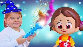 Eylul niloya doing magic to - magic wand is broken - fun kids Video - TV tontik