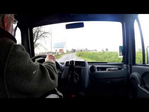 driving the Aixam van in rural Normandy