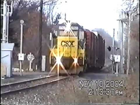 CSX B778 with an RLCX and AC Unit in Lacona NY  11-9-2004