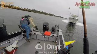 Fisherman Caught on Video Jumping into Water to Avoid Crash
