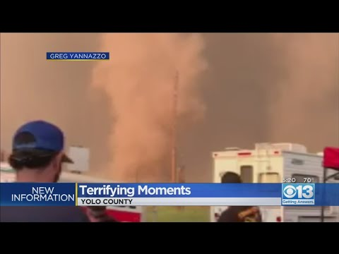 Terrfiying Moments As Tornado Forms Near Davis Families