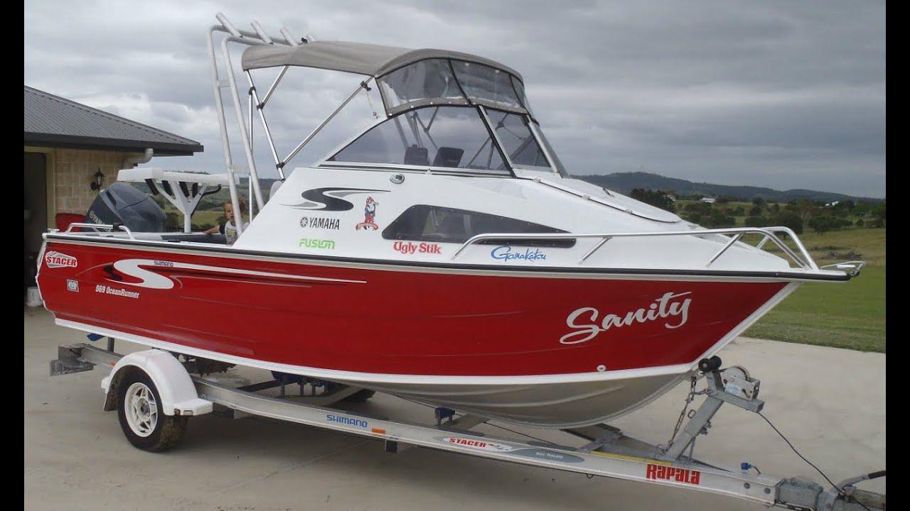 2012 stacer 569 oceanrunner yamaha 4 stroke outboard alloy for Yamaha fishing boats