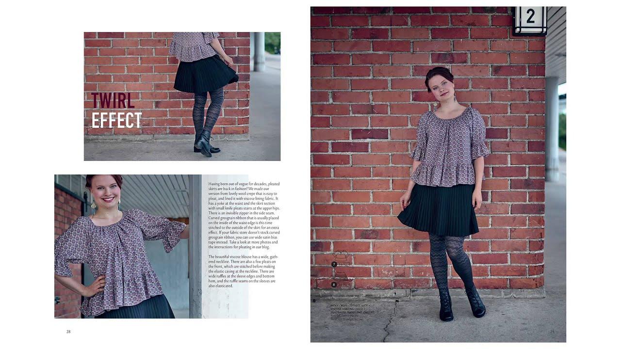 Ottobre Design Woman Mode Nähen Schnittmuster #5 / 2014 - YouTube