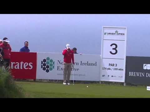 Irish Open 2012 Rory Mcilroy Tee Off 3rd Hole Day 1