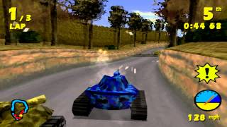 Tank Racer Gameplay Single Race Village (PSX,PS)