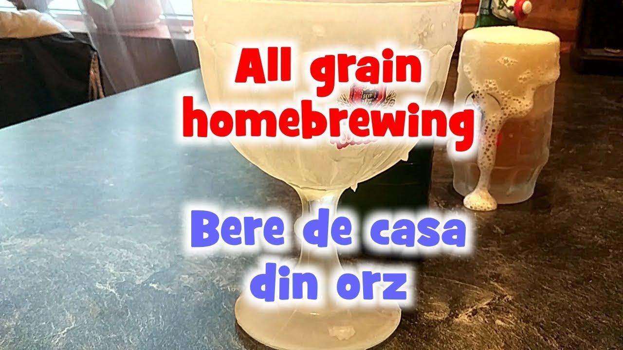 Bere de casa din orz / All grain homebrewing - English Subtitles