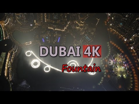 Ultra HD 4K Dubai Travel UAE Tourism Fountain Show Burj Khalifa Famous Sight UHD Video Stock Footage