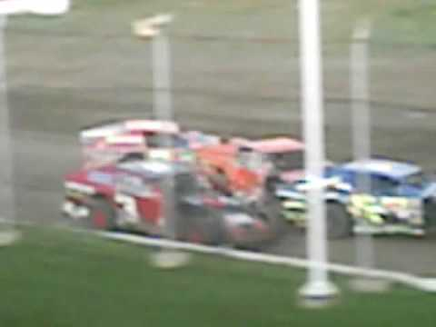 Golden spike speedway midwest mod crash 8-16-09