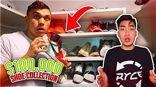 STEALING RICEGUM'S $100,000 SHOE COLLECTION (MY ROOMMATE)