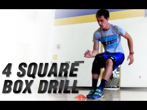 Youth Four Square Box Drill | Youth Speed Training