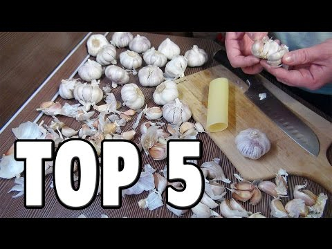 Make Top 5 Food Life Hacks - How To Peel Garlic Pictures