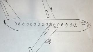 How to Draw an Airplane | Simple Drawing Tutuorial