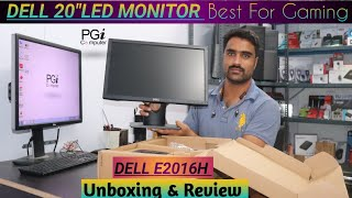 Full Budget DELL LED 20 in Monitor E2016H Unboxing And Review Hindi Best For Gaming