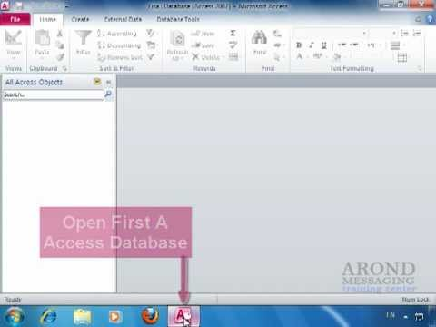 Using access 2010 create a table in datasheet view youtube for Table design view in access 2010