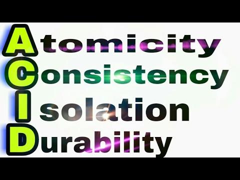 ACID Properties of Transaction || RDBMS theory tutorials