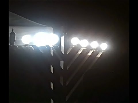 Chabad Rabbi lights public menorah