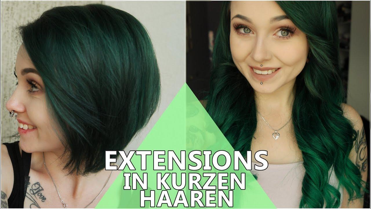 Extensions Tragen Trotz Bob Kurzen Haaren Youtube