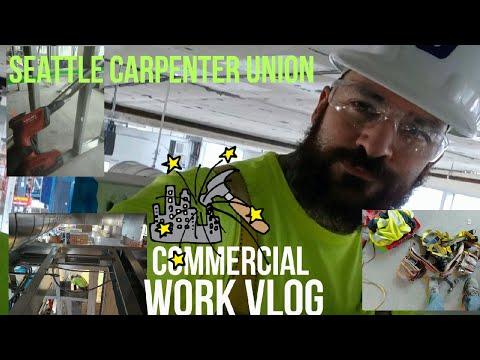 Commercial work vlog ep1. Seattle carpenter union. Building America