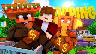 Minecraft FNAF 6 Pizzeria Simulator - PIZZERIA SHOPPING SPREE! (Minecraft Roleplay)