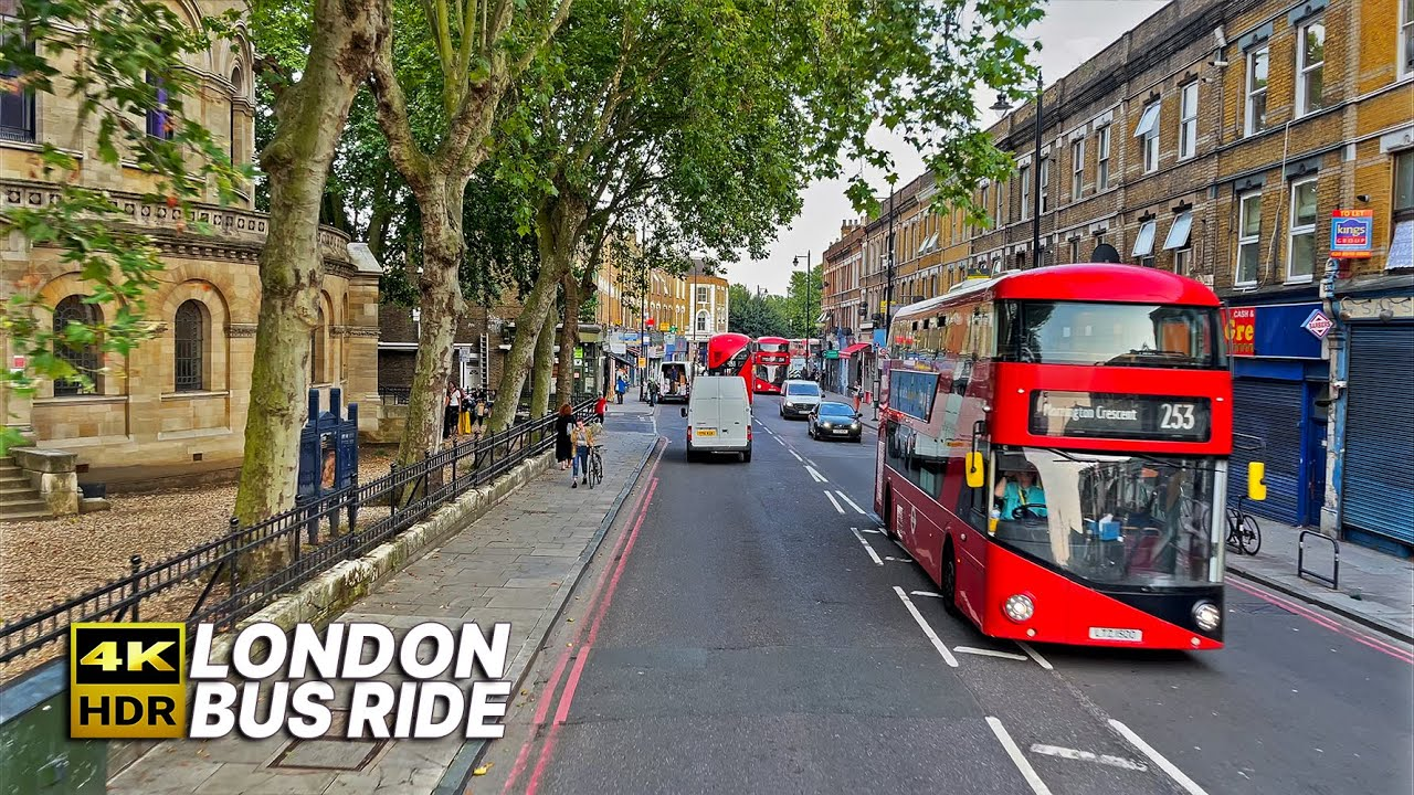 Download LONDON Bus Ride 🇬🇧- Route 253 - A bus journey through some of the inner boroughs of London 🚌