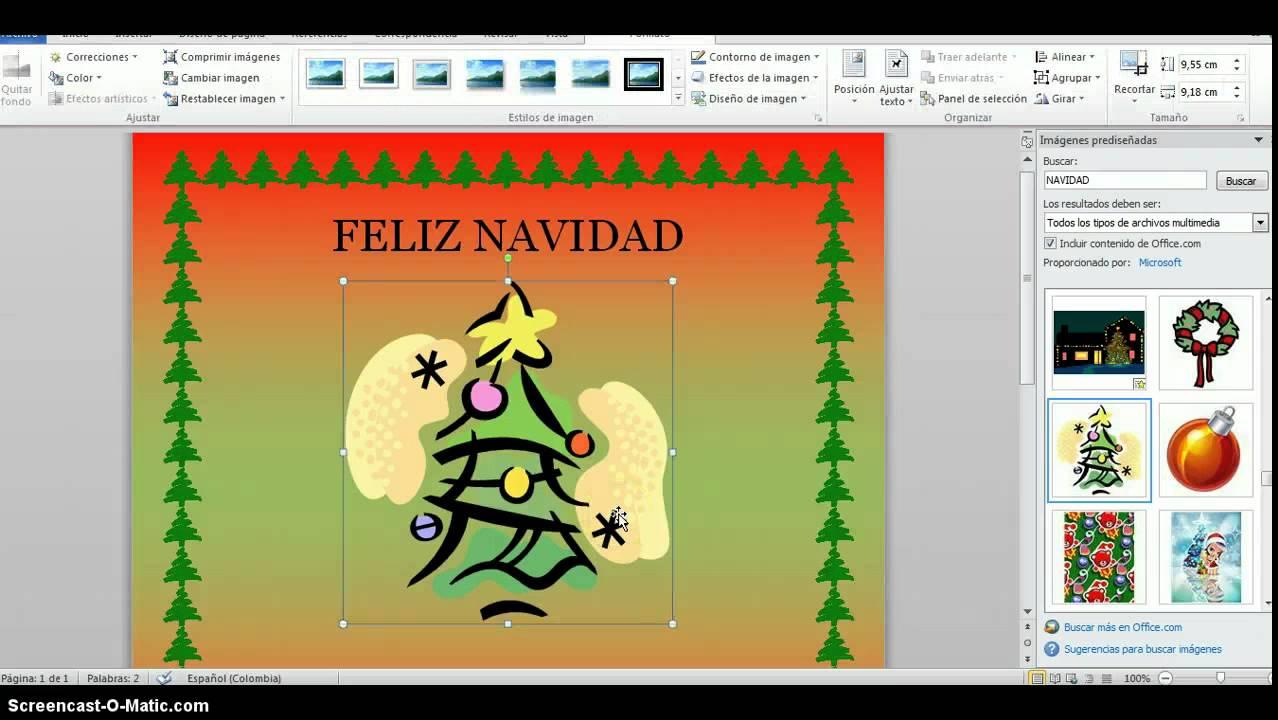 como elaborar una tarjeta navide u00d1a