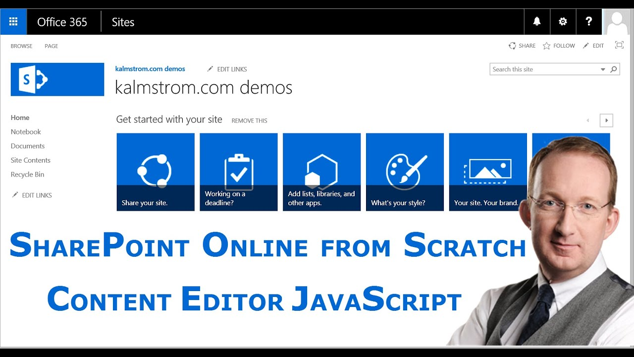 Use JavaScript in a SharePoint Content Editor Web Part - a