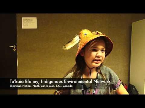 Ta'kaia Blaney interview at Rio+20