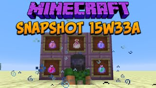 Minecraft 1.9 Snapshot 15w33a Lingering Potions & Dragon