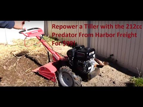 Repowering a Garden Tiller with a 212cc Predator Engine