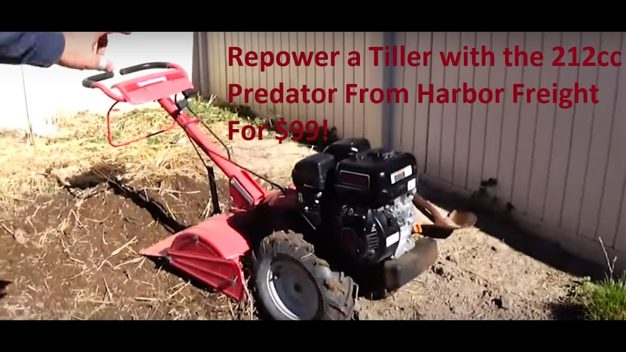 Reing A Garden Tiller With 212cc Predator Engine