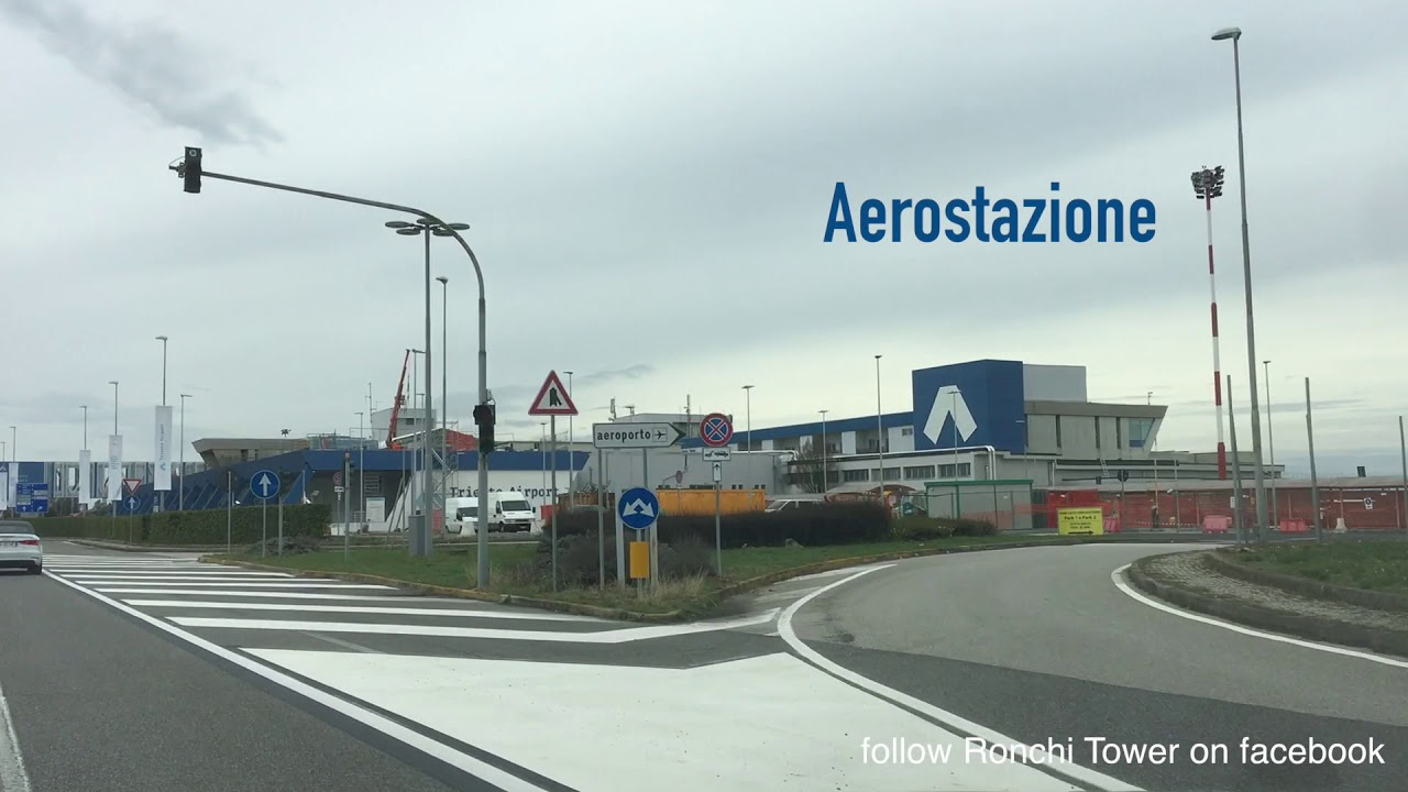 Driving through the new intermodal hub in Trieste Airport ...