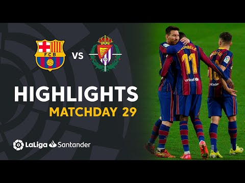 Barcelona Valladolid Goals And Highlights