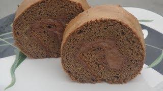 How to Make Chocolate Swiss Roll Cake Recipe- 朱古力瑞士卷