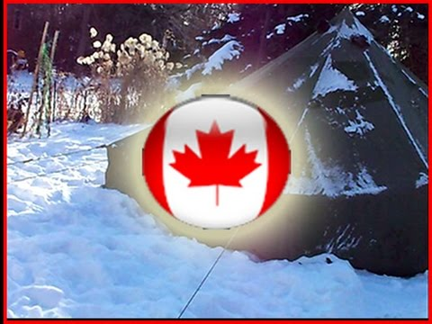 & 10 man Canadian Army Arctic Bell Tent - YouTube