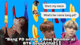 """BTS Texts - """"Bang PD Added a New Member at BTS Group Chat"""" (Taekook almost breakup?)"""