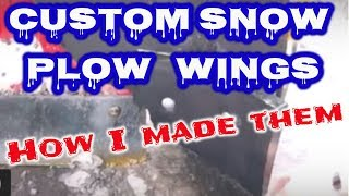Custom Snow Plow Wings - How I made them - Western Snow Plow