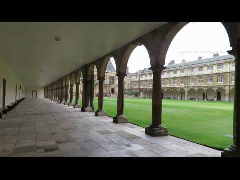 Walk around Trinity College Cambridge in England